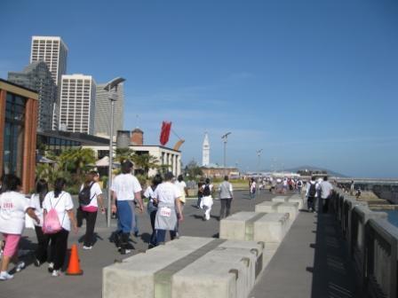 San Francisco 2009 Walk for Hope along the Embarcadero waterfront path