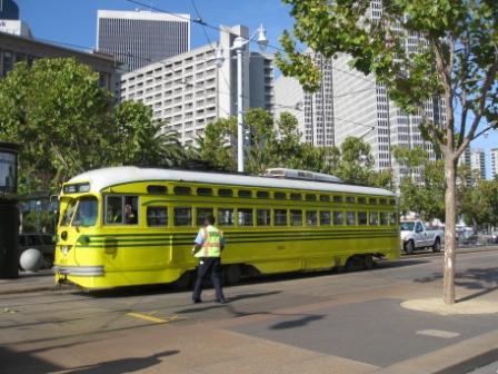 F-line service on historic streetcars between Castro District and Fisherman's Wharf