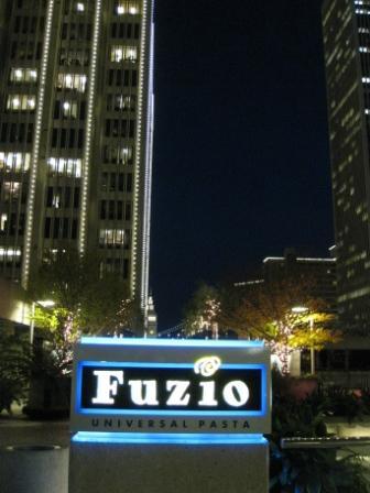 Fuzio Bistro, Embarcadero Complex across street from Le Meridien Hotel, San Francisco