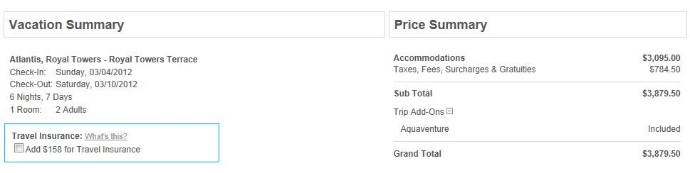 How much does the adult day pass to Atlantis Aquaventure cost?