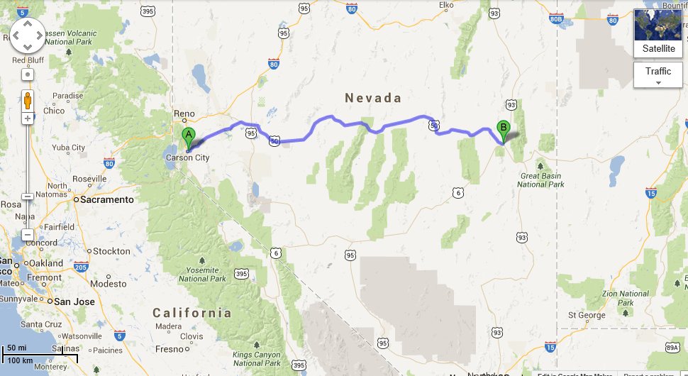 The Loneliest Road In America US Route Nevada Loyalty Traveler - Us route 50 map