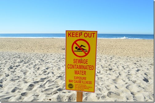 Imperial Beach warning sign