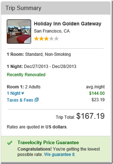 Travelocity HI SF