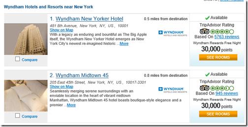 Wyndham New Yorker 30K