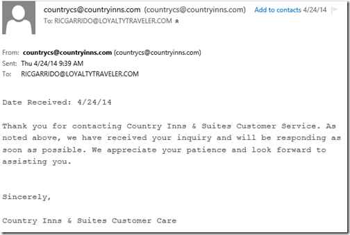 Country Inn email