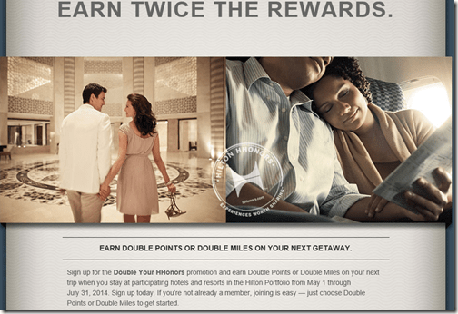 HHonors double promo