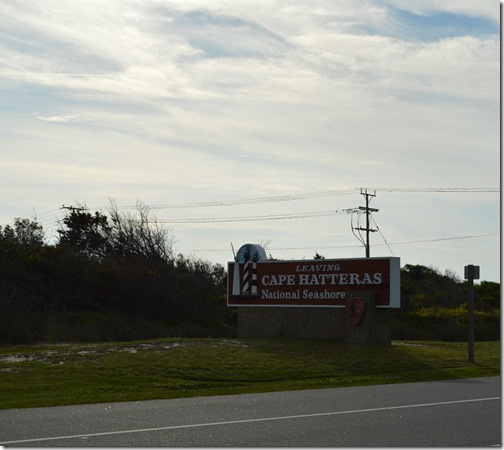 Cape Hatteras NS sign