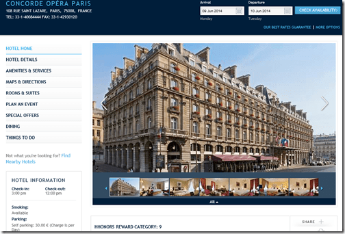 Hilton Concorde Opera Paris