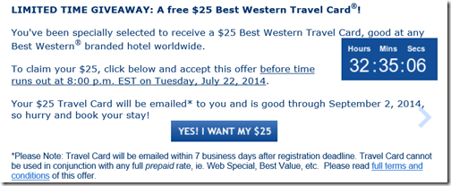 Best Western travel card email-2