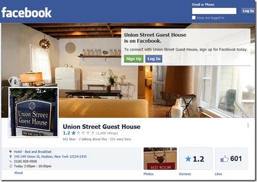 Union Street Hotel Facebook