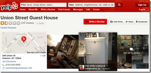 Yelp Union Street Guest House