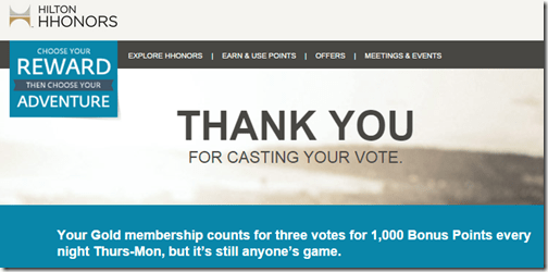 HHonors Cast your Vote thankyou