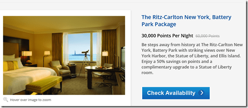Ritz Carton NY Battery Park 30K