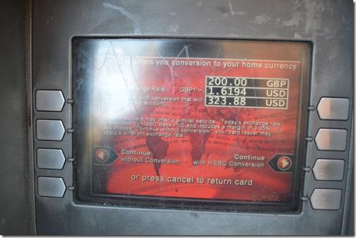 HSBC ATM London