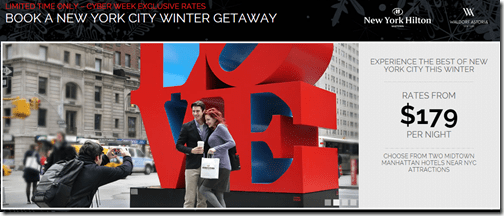 Hilton New York Winter Getaway