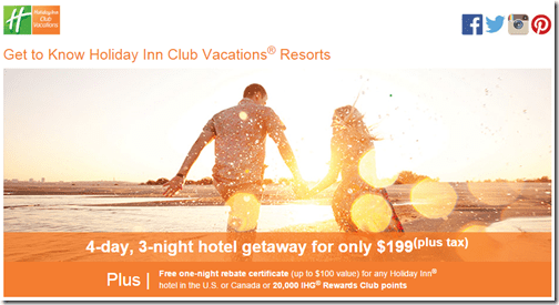 Holiday Inn Club Vacations promo