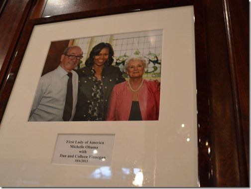 Michelle Obama Finnegan's Dalkey