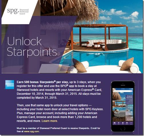SPG mobile app bonus