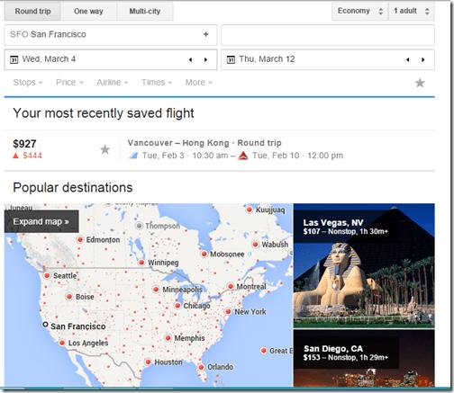 Google Flights SFO 3-4-to-3-12-15