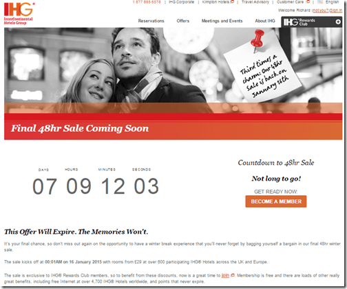 IHG 48 hour sale 1-16-2015