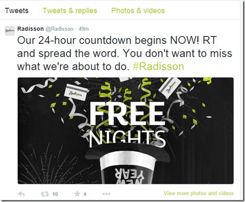 Radisson Free Nights