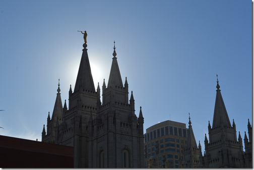 Salt Lake Temple sun