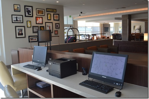 Hyatt House lobby computers