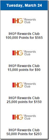 Daily Getaways 2015 IHG Rewards Club Mar 24