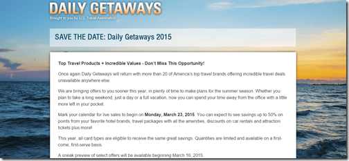 Daily Getaways 2015