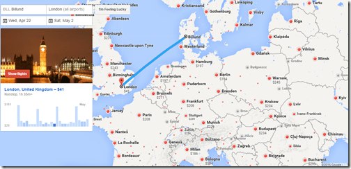 Google Flights BLL-LON
