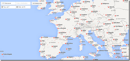 Google Flights YVR-Europe July 2015