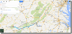 Google maps rocky mount VA to Norton VA 208m