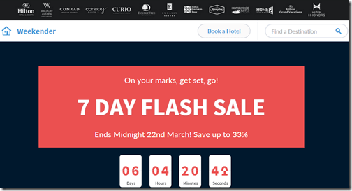 HHonors 7 day flash sale