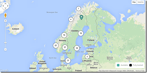 Nordic Choice Hotels map