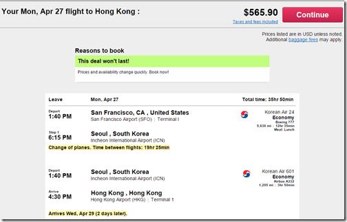 SFO-ICN-HKG $566