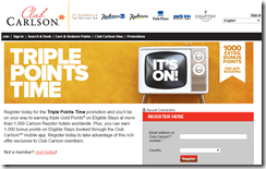 Club Carlson Triple Points April 2015