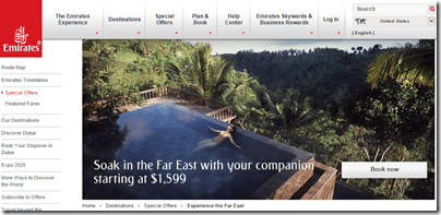Emirates Southeast Asia Sale $1599 for two