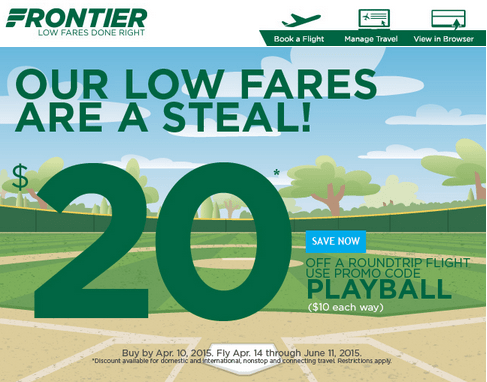 Frontier airlines coupon codes