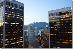 Hyatt Vancouver 29th floor Regency Club view