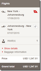 JFK-JNB $1248 price Swiss