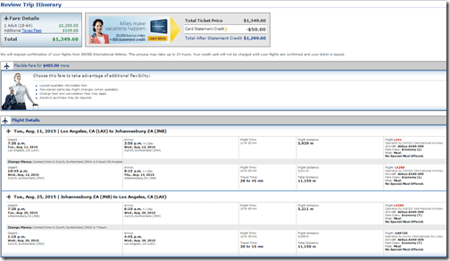 LAX-JNB $1350 Swiss August