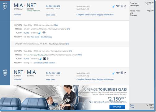 MIA-NRT DL $771 July15