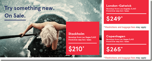 Norwegian route prices
