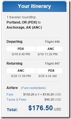 PDX-ANC $176.50 JetBlue late June