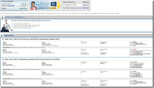 SFO-GOT UA $661 July1-8