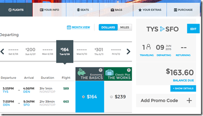 TYS-SFO Frontier-ow $154