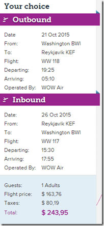 BWI-KEF $244 WOW
