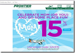 Frontier flashsale May 8