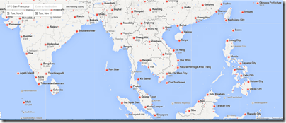 Google Flights SFO-SE Asia Nov 3-17