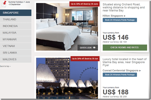 Hilton SE Asia sale Singapore